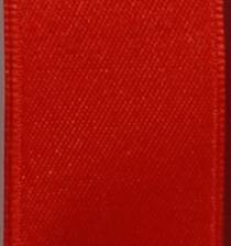 Wired Double Face Satin Ribbon - Red