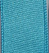 Wired Double Face Satin Ribbon - Turquoise LARGE