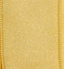 Wired Double Face Satin Ribbon - Light Yellow LARGE