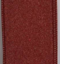 Wired Double Face Satin Ribbon - Bordeaux LARGE