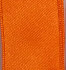 Wired Double Face Satin Ribbon - Orange LARGE