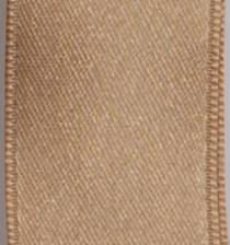 Wired Double Face Satin Ribbon - Camel LARGE