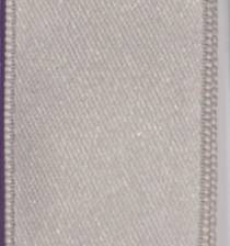 Wired Double Face Satin Ribbon - Silver