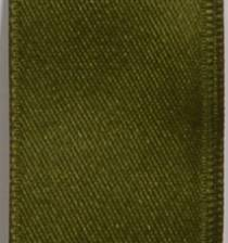 Wired Double Face Satin Ribbon - Moss LARGE