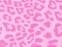 Leopard Ribbon (Grosgrain)  - Pink LARGE