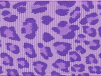 Leopard Ribbon (Grosgrain)  - Lilac LARGE