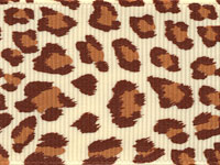 Leopard Ribbon (Grosgrain)  - Natural