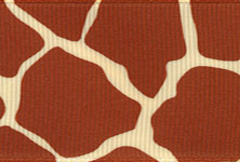 Giraffe Print Ribbon (Grosgrain) - Natural