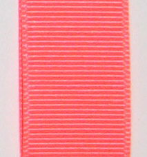 Neon Grosgrain Ribbon - Neon Coral LARGE