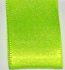 Neon Double Face Satin Ribbon - Neon Citrus LARGE
