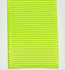 Neon Grosgrain Ribbon - Neon Citrus
