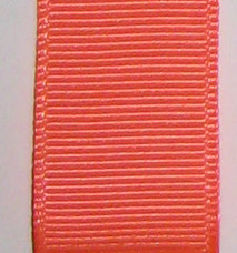 Double Face Satin Ribbon - Neon Orange LARGE