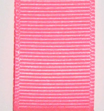 Neon Grosgrain Ribbon - Neon Shocking Pink