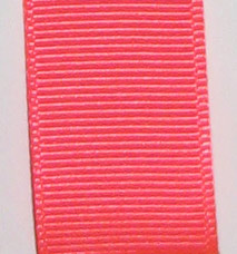 Neon Grosgrain Ribbon - Neon Red LARGE