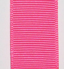 Neon Grosgrain Ribbon - Neon Hot Pink