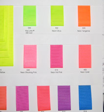 Neon Grosgrain Ribbon - Sample Card LARGE