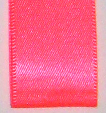 Neon Double Face Satin Ribbon - Neon Coral_LARGE