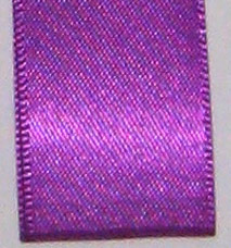 Neon Double Face Satin Ribbon - Bright Purple LARGE
