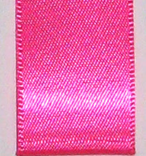 Neon Double Face Satin Ribbon - Neon Hot Pink