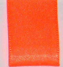 Neon Double Face Satin Ribbon - Neon Tangerine LARGE