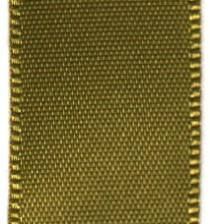 Double Face Satin Ribbon - Golden Olive LARGE