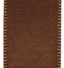 Double Face Satin Ribbon - Pecan Brown