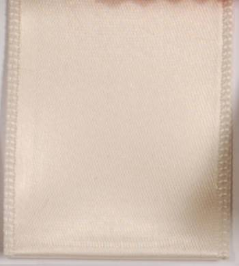 Wired Single Face Satin Ribbon - Ivory LARGE