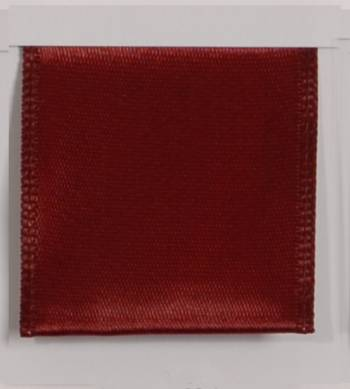 Wired Single Face Satin Ribbon - Burgundy