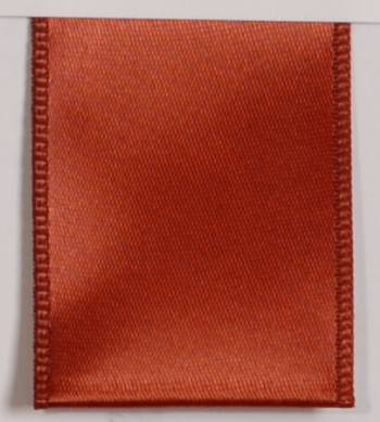 Wired Single Face Satin Ribbon - Cinnamon