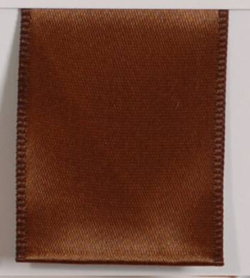 Wired Single Face Satin Ribbon - Brown LARGE