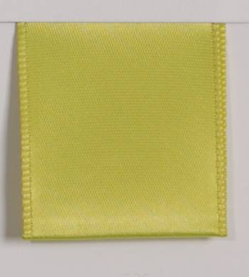Wired Single Face Satin Ribbon - Lime