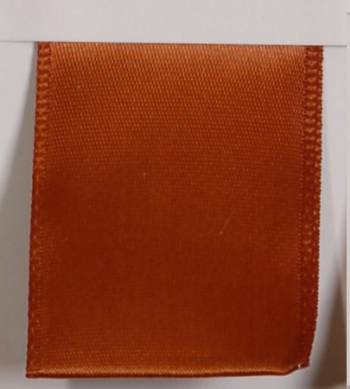Wired Single Face Satin Ribbon - Toffee