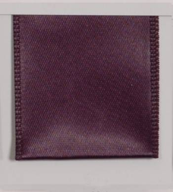 Wired Single Face Satin Ribbon - Plum