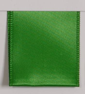 Wired Single Face Satin Ribbon - Green