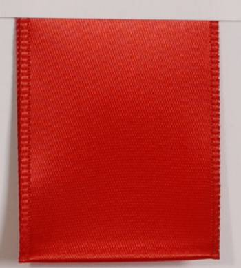 Wired Single Face Satin Ribbon - Red