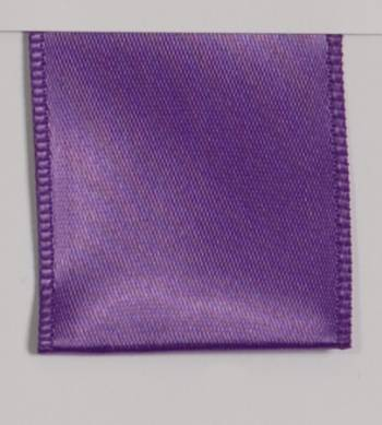 Wired Single Face Satin Ribbon - Purple