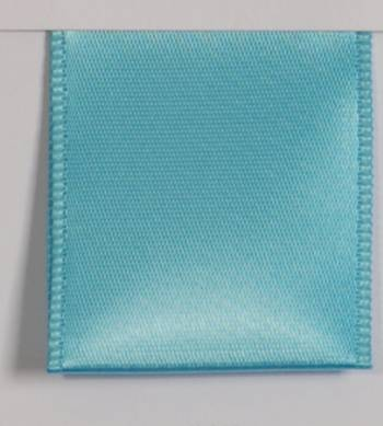 Wired Single Face Satin Ribbon - Turquoise