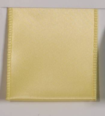 Wired Single Face Satin Ribbon - Light Yellow