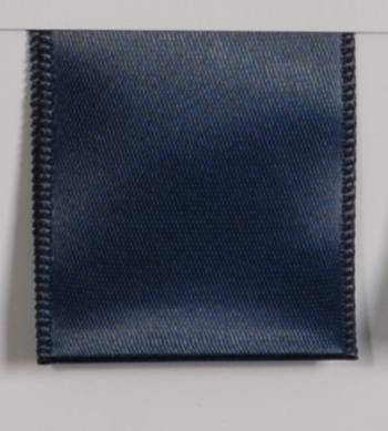 Wired Single Face Satin Ribbon - Navy Blue