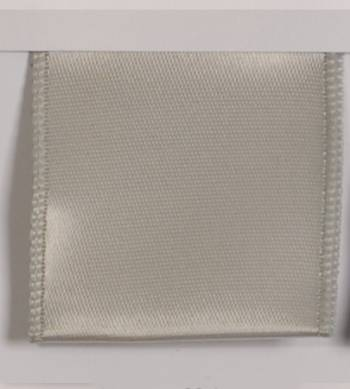 Wired Single Face Satin Ribbon - Silver LARGE