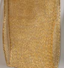 Wired Ribbon | Luxor Wired Metallic Ribbon - Gold LARGE