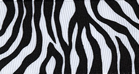Zebra Fest Ribbon (Grosgrain) - Black THUMBNAIL