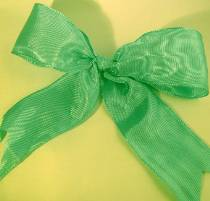 Lyon French Wired Ribbon - Dark Mint LARGE