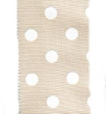 Polka Dot Ribbon - Champagne / White