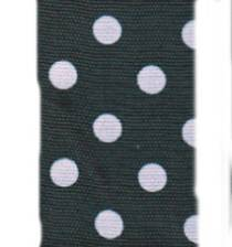Polka Dot Ribbon - Black / Pink_LARGE