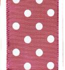Polka Dot Ribbon - Magenta/ White