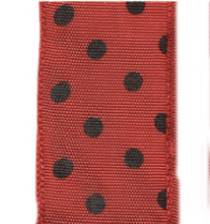 Polka Dot Ribbon - Red/Black LARGE