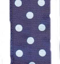Polka Dot Ribbon - Purple / White