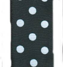 Polka Dot Ribbon - Black / White LARGE