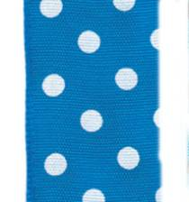 Polka Dot Ribbon - Royal / White LARGE